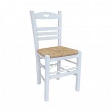 Καρέκλα Εμποτισμός Λάκα Άσπρο ΠΑΡΟΣ-3