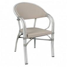 Καρέκλα αλουμινίου VEGERA Antique White
