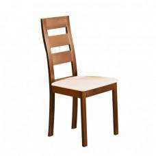 Καρέκλα Οξυά Mileer Honey Oak/PVC Εκρού