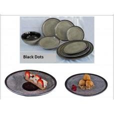 Σαλατιερά ποσρελάνης black dots 23εκ. χ6κιβ.