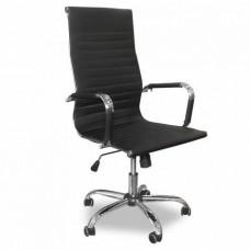 Καρέκλα γραφείου μέ μπράτσα ψηλή πλάτη ΛΕΥΚΗ-ΜΑΥΡΗ