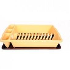 Στεγνωτήρι πιάτων ξύλινο 35χ29υ οξίας φυσικό - σκούρο έκπτωση 10%