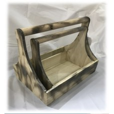 BOX FOR debris BROWN WOODEN 14x18x10