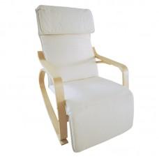 Καρέκλα ξύλινη κουνιστή έυκαμπτη μέ υποπόδιο
