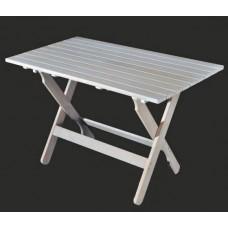 Τραπέζι ξύλινο οξιά ορθογώνιο 80χ120 λευκό λάκα