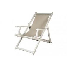 Καρέκλα ξύλινη οξιά σεζ λογκ λευκό λάκα