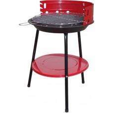 Ψησταριά κάρβουνου & ράφι Φ56cm κόκκινη