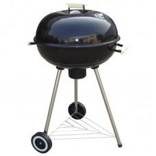 Ψησταριά κάρβουνου με ρόδες & ράφι Φ56cm