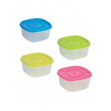 Δοχείο τροφίμων τετράγωνα πλαστικά σέτ 4τεμ. χ12κιβ.