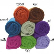 Κουβέρτα hot βελούδο 160χ220 διάφορα χρώματα