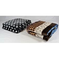 Κουβέρτα μονόχρωμη mink διπλή 200x220 σχέδιο
