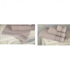 Πετσέτες μπάνιου σέτ 3τεμ. line 450γρ 100% cotton διάφορα χρώματα