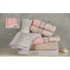 Πετσέτες μπάνιου σέτ 3τεμ. Damask 450γρ 100% cotton διάφορα χρώματα