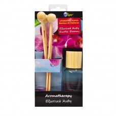 Αρωματικό aromatherapy 30ml με ξυλάκια bamboo - εξωτικά άνθη