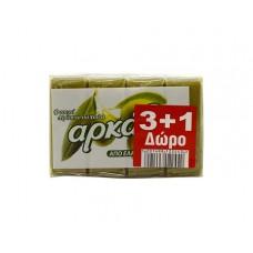 Αρκάδι Σαπούνι Πράσινο 150gr 3+1 Δώρο χ10κιβ.