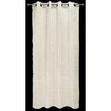 Κουρτίνα   ετοιμή linen look με τρέσσα & βαρίδι 140x250 εκρού