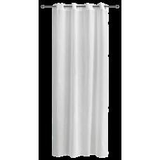 Κουρτίνα   ετοιμή solid με τρέσσα & βαρίδι 300x270 γκρί