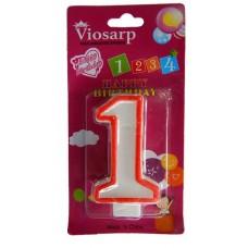 Κερί γενεθλίων αριθμοι 1