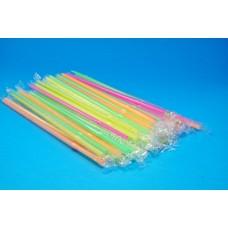 Καλαμάκια πολύχρωμα συσκευασμένα 100τεμ Χ10κιβ