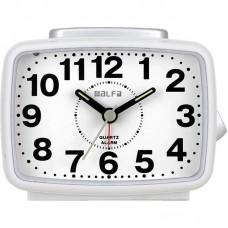 Ρολόι Επιτραπέζιο Αναλογικό 2816 Αθόρυβο Με Φωτισμό Λευκό -Silver