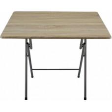 Τραπέζι ξύλινο πτυσσόμενο μεταλλικά πόδια χρώμα οξιάς 50χ80χ70υψ.
