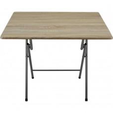 Τραπέζι ξύλινο πτυσσόμενο μεταλλικά πόδια χρώμα οξιάς 90x70x70υψ.