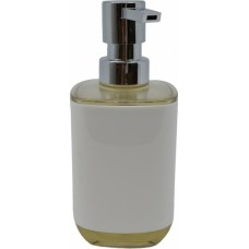Dispenser πλαστικό σε άσπρο χρώμα και μπέζ διάφανο ακρυλικό στο πάνω μέρος