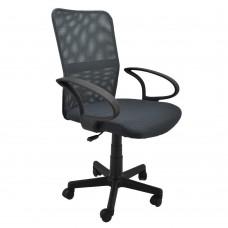 Καρέκλα γραφείου γκρί περιστρεφόμενη
