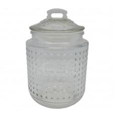 Βάζο γυάλινο χωρητικότητας 1,2 λίτρων με γυάλινο καπάκι