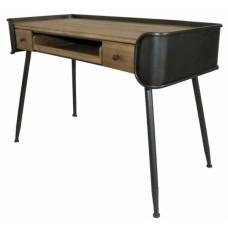 Γραφείο με δύο συρτάρια, ξύλινο με συνδιασμό από σίδερο 120x54x81εκ.