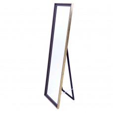 Καθρέφτης δαπεδου 30χ120εκ. πλαστική κορνίζα σε σκούρο καφέ χρώμα με εφέ ξύλου