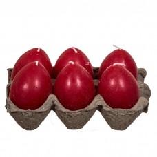 Κερί αυγό κόκκινο σέτ 6τέμ.
