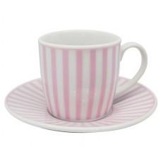 Σετ 6 τεμαχίων φλυτζάνια για καφέ με πιατάκια κατασκευασμένα από λευκή πορσελάνη με σχέδιο