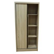 Ντουλάπα ξύλινη με συρόμενες πόρτες, τέσσερα ράφια