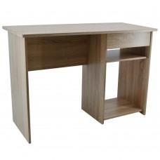 Γραφείο ξύλινο ξαιρετικής κατασκευής, στιβαρό και σταθερό, με δύο ράφια και ένα συρτάρι