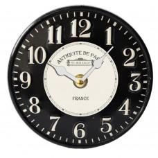 Ρολόι επιτραπέζιο μεταλλικό 15,5εκ. στρογγυλό σε μαύρο χρώμα