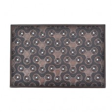 Ταπέτο εισόδου 60χ40εκ. καουτσούκ καφέ χάλκινο χρώμα σχέδιο fidget spinner