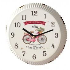 Ρολόι τοίχου μεταλλικό 25εκ. σε σχήμα από καπάκι αναψυκτικού