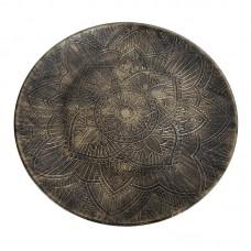 Πιατέλα ξύλινη με διακριτική διακόσμηση 40εκ.