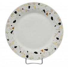 Σερβίτσιο φαγητού πορσελάνης στρογγυλό 18τεμ. σχέδιο εφέ μωσαϊκού