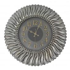 Ρολόι τοίχου πλαστικό 55εκ. σε ασημί αντικέ χρώμα