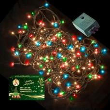 Λαμπάκια χριστουγεννιάτικα led 100 χρωματιστά εξωτερικού